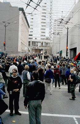 1999: WTO -- HistoryLink webcam of protests and a
