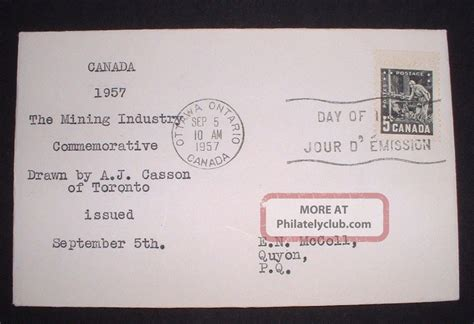 1957 Canada - Mining Industry Commemorative 5 Cents - Fdc