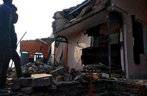 Blast In House Second Floor Destroyed And Two Injured In