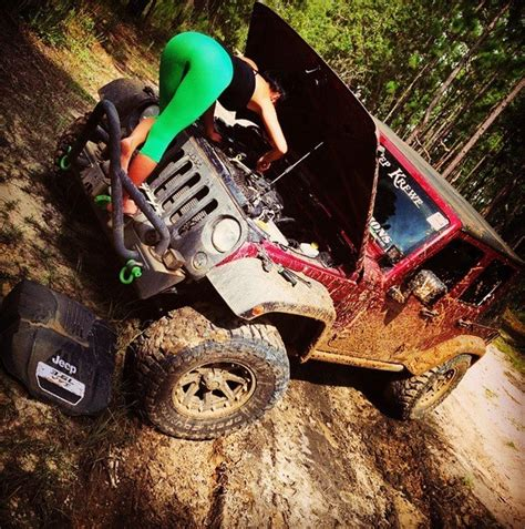 Hot Yoga Girl Combines Stretching with Jeeps and It's