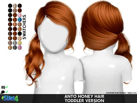 CoupurElectrique's Honey Hair for Toddlers – Sweet Sims 4