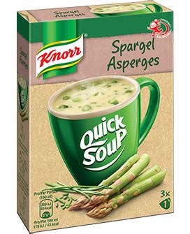 KNORR Quick Soup Spargel Suppe 3 x 1 Tasse