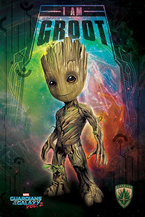 Guardians of the Galaxy - 2 - I Am Groot - Space - Poster