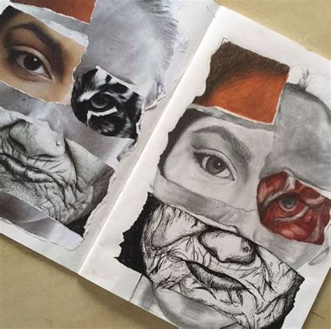Pin by Sabrina Leder on Distorted portraits | A level art