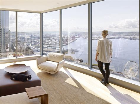 High-Rise Apartment with Floor-to-Ceiling Windows