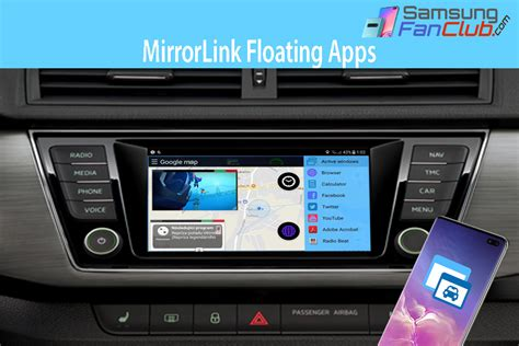 Full MirrorLink | Floating Apps for Auto Android Samsung